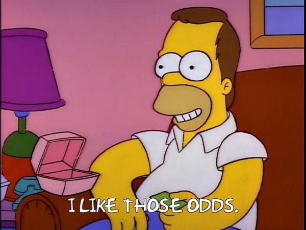 homer simpson saying he likes those odds