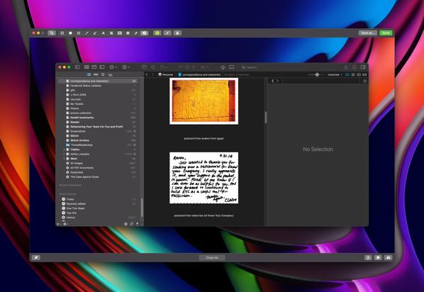 screenshot of CleanShot X, a screenshotting app. I see the irony.